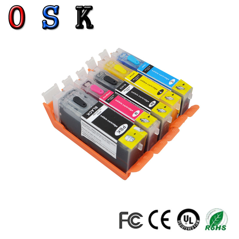 OSK compatible PGI 580 CLI 581 PGI 580 CLI 581 XL edible ink cartridge for CANON TR7550 TR8550 TS6150 TS6151 printer in Ink Cartridges from Computer Office