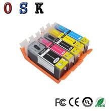 цена на OSK  compatible PGI-580 CLI-581 PGI 580 CLI 581 XL edible ink cartridge for CANON TR7550 TR8550 TS6150 TS6151 printer