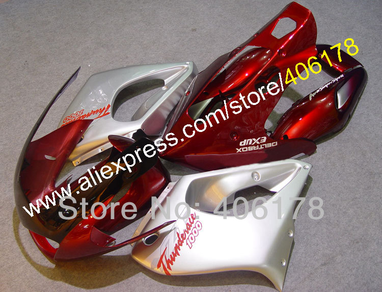 Hot Sales,YZF1000R 97 98 99 00 01 02 03 04 05 06 07 Fairing For Yamaha YZF/1000R Thunderace 1997-2007 Red Bike Sports Fairings рычаги тросики и кабели для мотоцикла rctoper honda vtr1000f firestorm 98 99 00 01 02 03 04 05