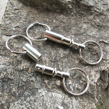 Hot! Double Head Key Ring Keychain Outdoor Tactical EDC Car