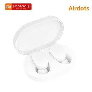 Xiaomi Mijia Airdots TWS inalámbrico Bluetooth 5,0 en el oído auricular versión juvenil Stereo Bass con micrófono manos libres Earbuds AI Control