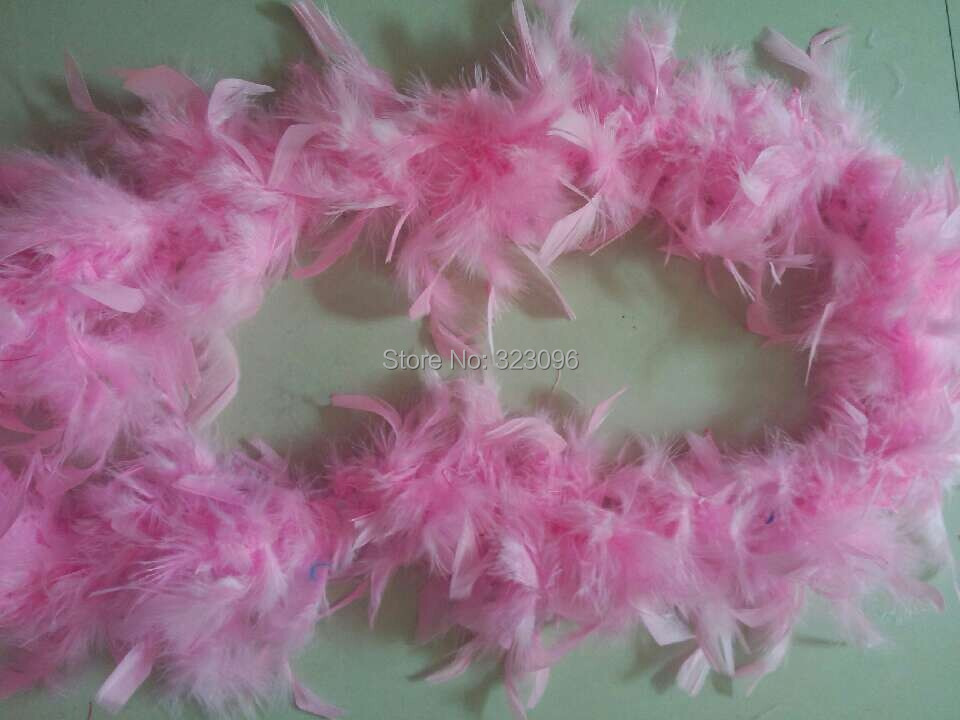 10pcs Free Shipping 2M Long Pink Fluffy Feather Boa Party Wedding Dress Costume Decor Decoration