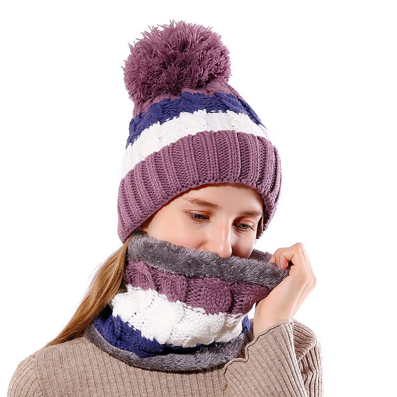 High Quality Add Wool Pompom Cotton Warm Winter Hat Knit Cap Winter Hats  For Women Knitted Hat Fur Beanies Skullies 4dc0e59399e