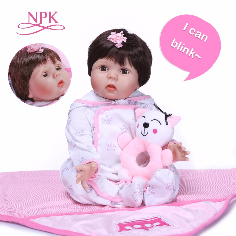 NPK 23'' 57 cm New Arrival Baby Girl Reborn Dolls Kids Toy soft cloth body Silicone Vinyl Real Life Bebe Reborn Alive Doll npk new arrival full body silicoen bebe reborn girl dolls soft silicone vinyl real gentle touch bebe new born real reborn baby