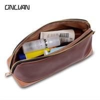 ONLVAN Cosmetic Bags New Design Women Makeup Bag Genuine Leather Patchwork Organizador Make Up Bag Customize
