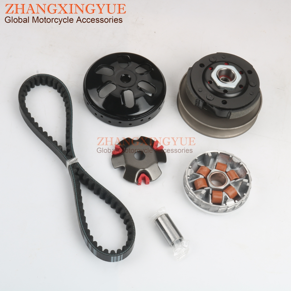 fit for GY6 50cc Engine Scooter CLEO Gy6 50cc high performance clutch set,include clutch Assembly and Variator Assembly with 669 belt