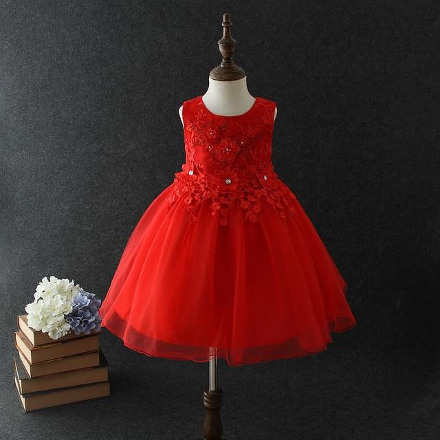 d29645927ea73 Kids Wedding Party Dresses 1-10Y Baby Girls Lace Princess Dresses Flower  Girl Evening Dresses Bridesmaids Summer Clothing Dress