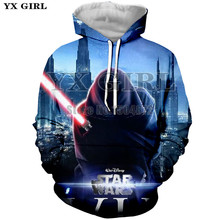 YX Girl 2018 Spring Autumn Tracksuit Mens Hoodie 3d Full Printing Clothes Men Star Wars Hoodies Sweatshirt Long Sleeve Pullover