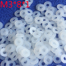 M3*8*1 100pcs White Nylon Washer Plastic Flat Spacer Washer Thickness circular  round Gasket Ring High Quality circular m6 12 1 2 white 100pcs nylon washer plastic flat spacer washer thickness circular round gasket ring high quality circular