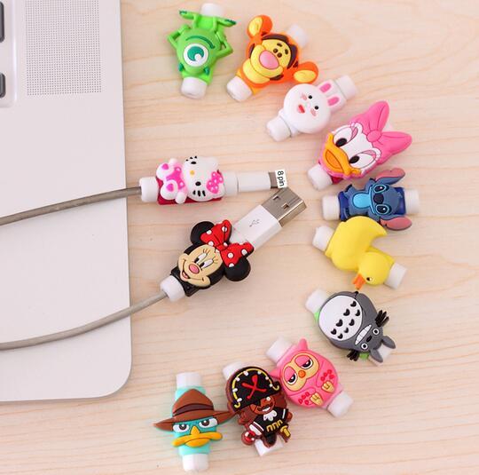 Мода мультфильм Новый USB кабель Наушники Протектор Красочные Коке для IPhone X 8 4 4S 5 5S 5C SE 6 6S 7 7 s plus Fundas Чехол