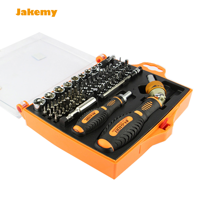Magnetic Screwdriver 79in1 JM-6108 ratchet screw driver bits set kit computer PC phone ferramentas repair tool universal rachet jakemy jm 6102 screwdriver multitool mobile phone repair tool screw driver set for pc notebook computer