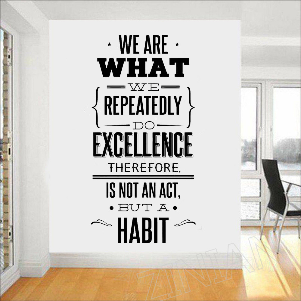 Aliexpress Buy We Are What We Repeatedly Do Wall