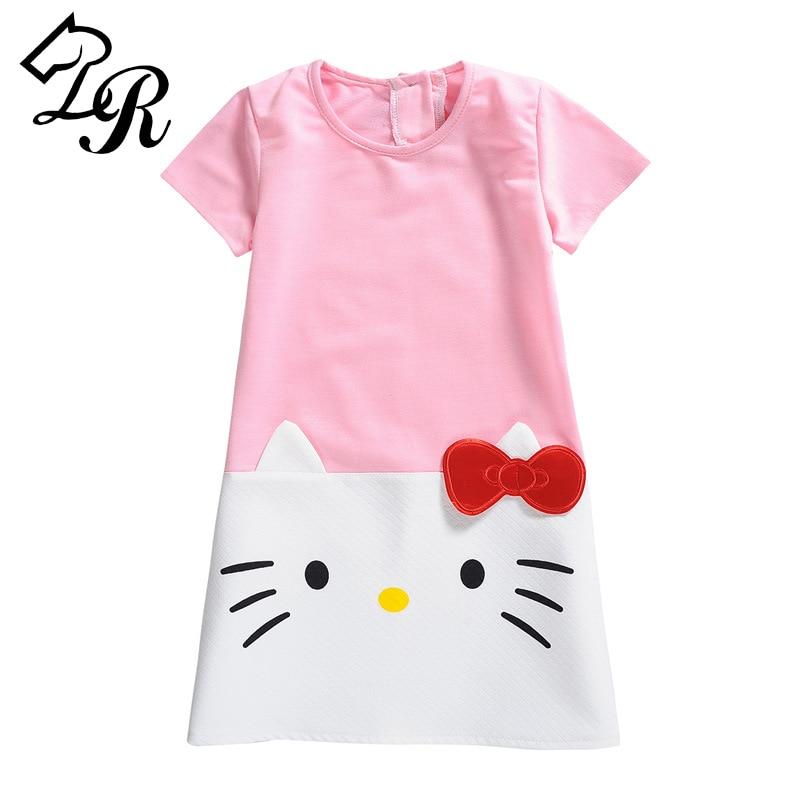 HOT 2017 Baby Girls Dresses Hello Kitty Brand Children Dresses for Girls Princess Dress Christmas Kids Girl Clothes