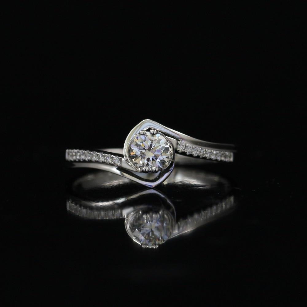 LASAMERO 0.305CT DE/SI anneau DE diamant naturel moderne d'amour DE coupe ronde pour les femmes 18 k or blanc certifié bague DE mariage DE fiançailles
