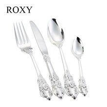 24 Stücke Luxus Silber Besteck Set Besteck Geschirr Geschirr Besteck Abendessen Gabel Löffel Messer