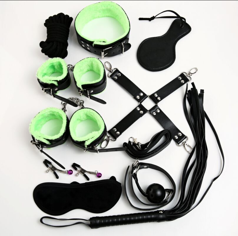 10 pcs/set adult game bondage restraints leather hand cuffs mouth gag nipple clamps whip collar fetish sex toys for couples 6pc lot sex pillow hand cuffs leg cuffs mouth gag goggles ring adult sex toys for couples bondage fetish erotic toys