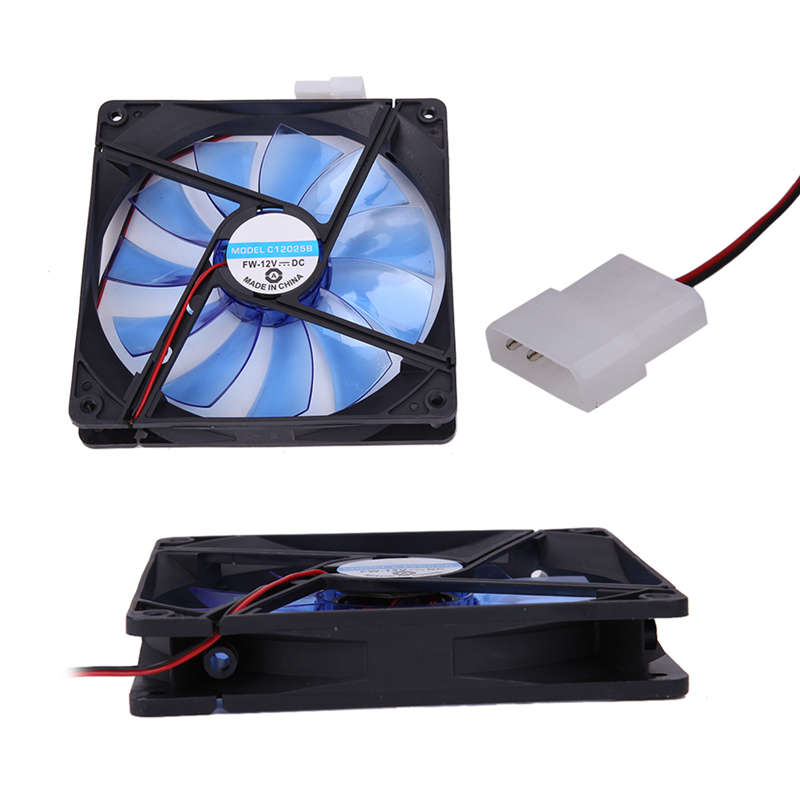 12V 4Pin 140mm 140x25mm Brushless Computer CPU Cooler Small Cooling Fan Sleeve Bearing Heat Sink aerocool 15 blade 1 56w mute model computer cpu cooling fan black 12 x 12cm 7v