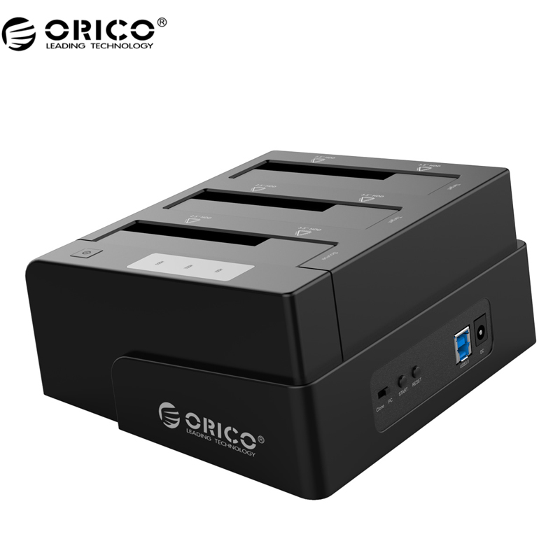 ORICO 6638US3-C USB 3.0 SATA Tool Free 2.5/3.5 Off-line Clone Hdd Docking Station - Black