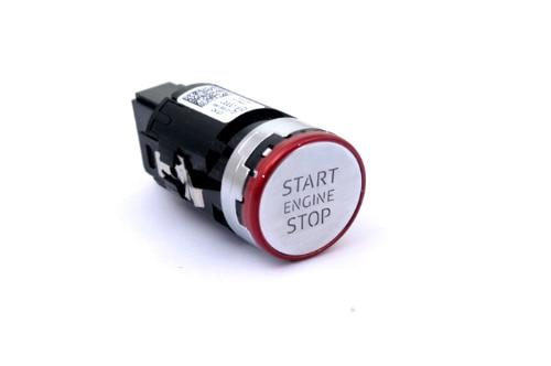 Красный кнопочный Пуск хром для Ауди А4 В9