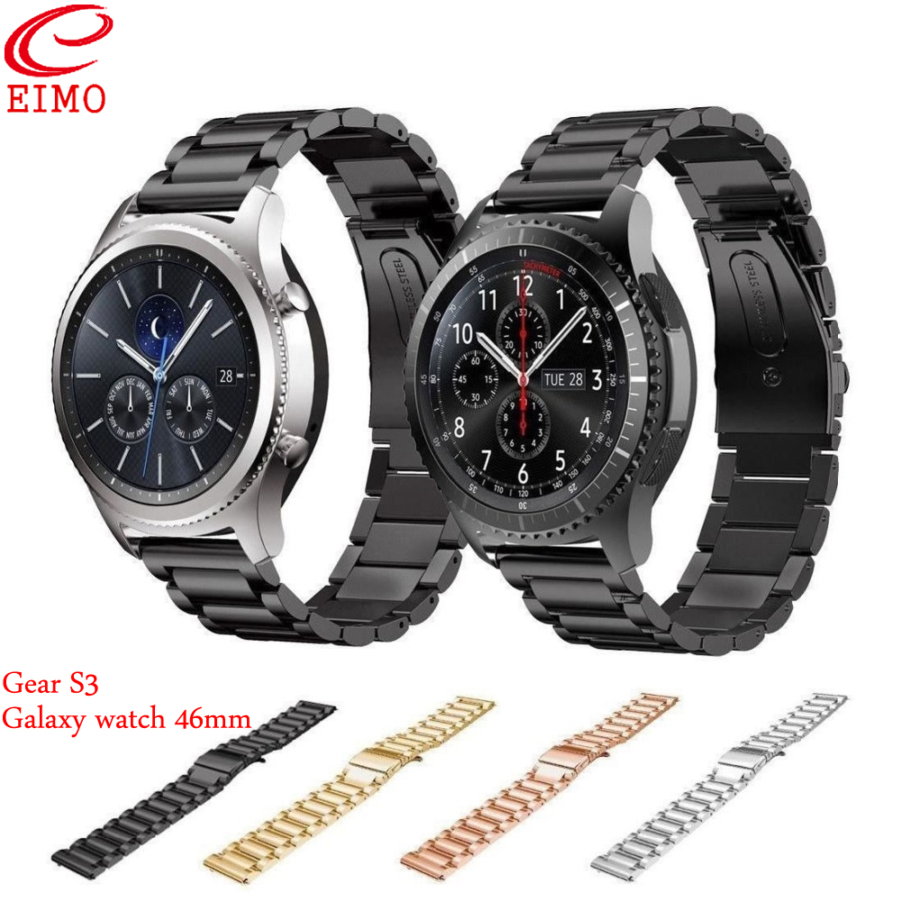 Gear S3 Strap for Samsung Galaxy watch 46mm Gear S3 Frontier/Classic Band Stainless Steel Link Bracelet Smartwatch AccessoriesGear S3 Strap for Samsung Galaxy watch 46mm Gear S3 Frontier/Classic Band Stainless Steel Link Bracelet Smartwatch Accessories