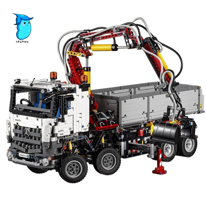 StZhou LEPIN 20005 2793pcs NEW technic series Arocs Model Building Block Bricks Compatible with Boys Toy Educational Gift lepin technic series building bricks 20005 2793pcs arocs truck model building kits blocks compatible 42043 boys toys gift