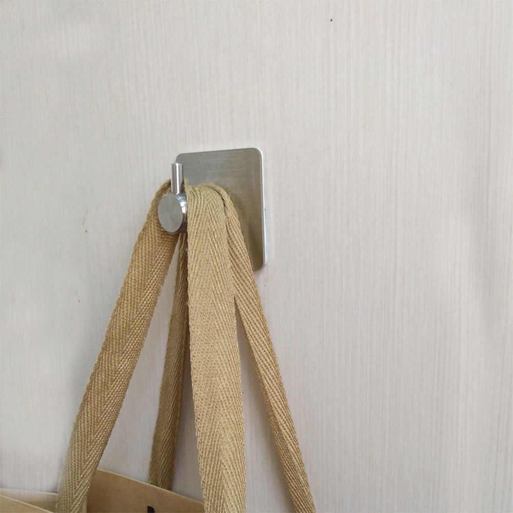 3 м наклейки, клейкие крючки из нержавеющей стали, настенная верхняя одежда вешалка для одежды, кухни, ванной комнаты, водонепроницаемые крючки для полотенец
