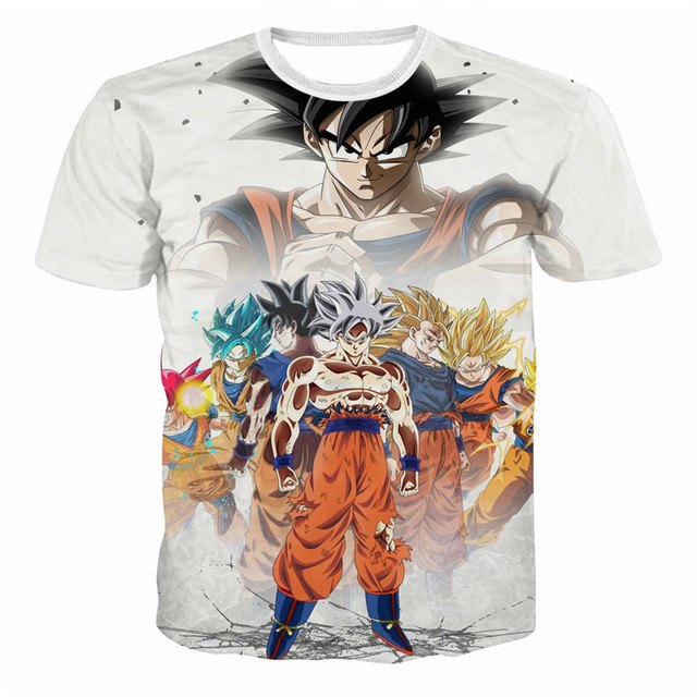 55515e708d 2019 Fashion New Dragon Ball Z T Shirts Mens 3D Print Super Saiyajin Son  Sun Wukong T-shirt Japan style High Quality Trappings