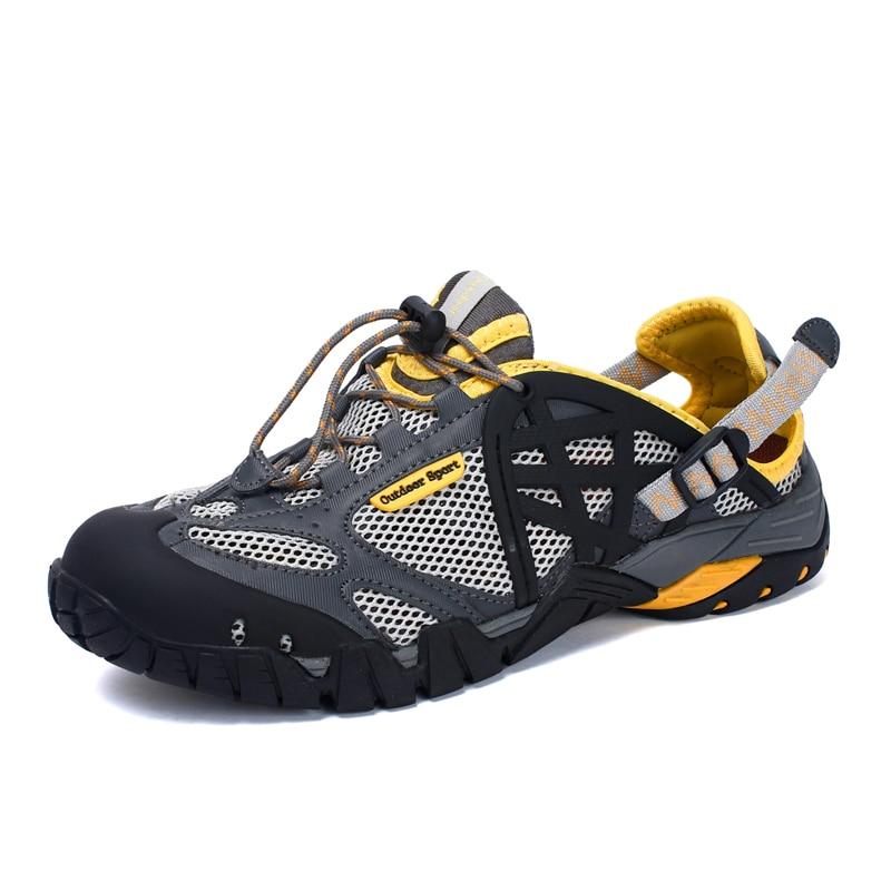 Кроссовки водные для мужчин и женщин, дышащие сандалии, пляжная обувь для прогулок, летние спортивные