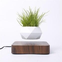 Levitating Air Bonsai Pot Rotation Flower Pot Planters Magnetic Levitation Suspension Floating Pot Potted Plant Home Desk Decor
