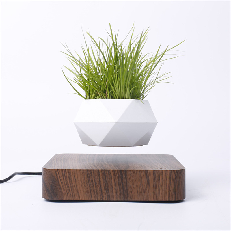 Levitating Air Bonsai <font><b>Pot</b></font> Rotation <font><b>Flower</b></font> <font><b>Pot</b></font> Planters <font><b>Magnetic</b></font> Levitation Suspension Floating <font><b>Pot</b></font> Potted Plant Home Desk Decor image