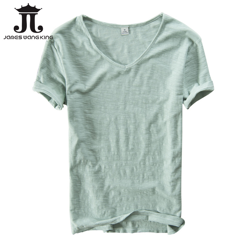 Summer   t     shirt   men linen cotton short sleeve tshirt V-neck Tops&Tee breathable Comfortable slim   t  -  shirt   men dropshopping 201