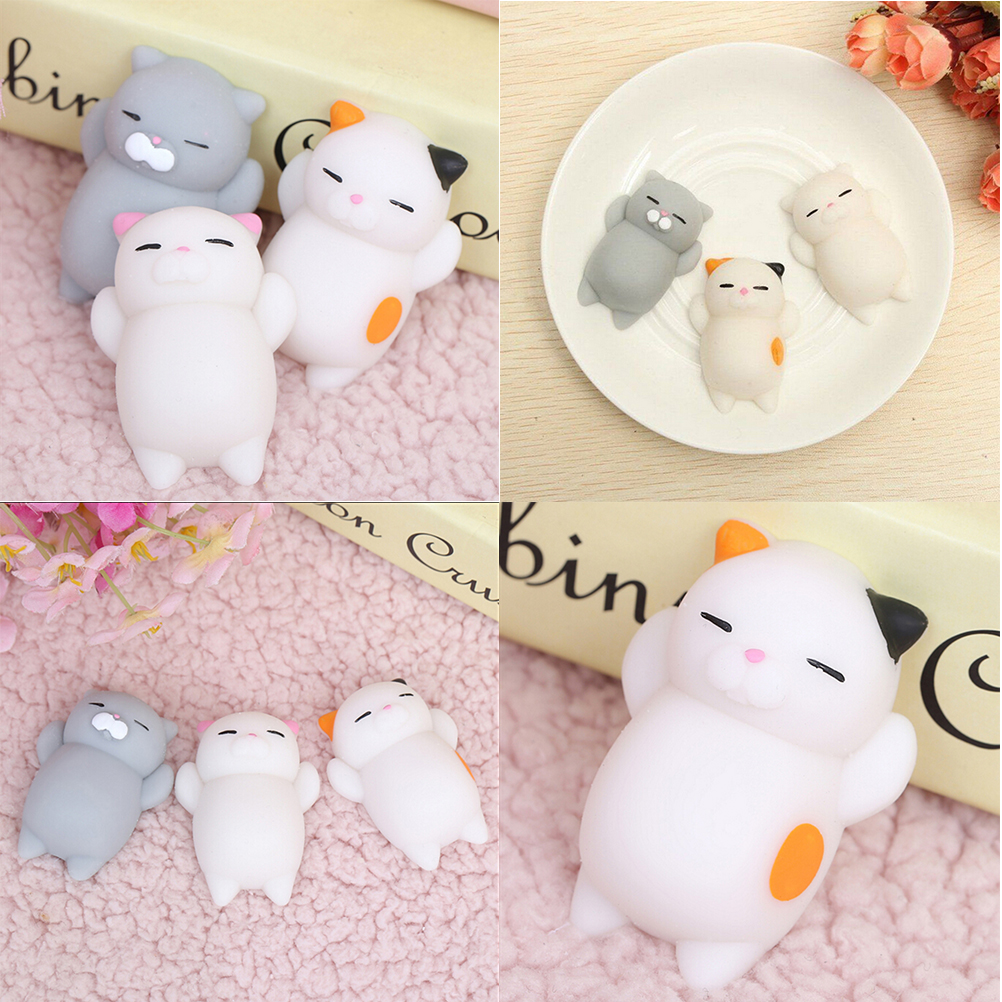 Wipes Antistress Boot Ball Sticky Eliminate Stress Squeeze Decompression Squishy Soft Cute Cat Toys
