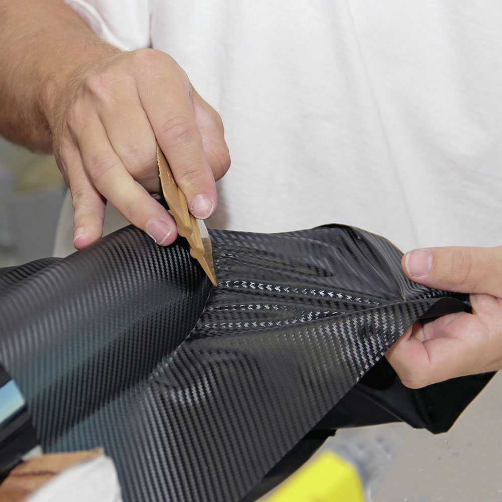 FEELWIND 30 cm x 127 cm 3D Fibra De Carbono Filme de Vinil Filme De Carbono Decalques Wraps Scratch-resistente À Prova D Água