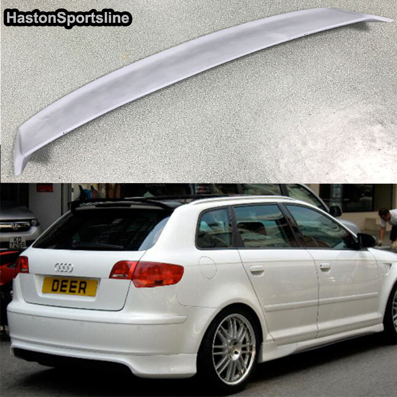 A3 Sportback FRP Primer Auto Car Rear Roof Spoiler Wing for Audi A3 Not S3 Not S line 2009 2010 2011 2012 pu rear wing spoiler for audi 2010 2011 2012 auto car boot lip wing spoiler unpainted grey primer