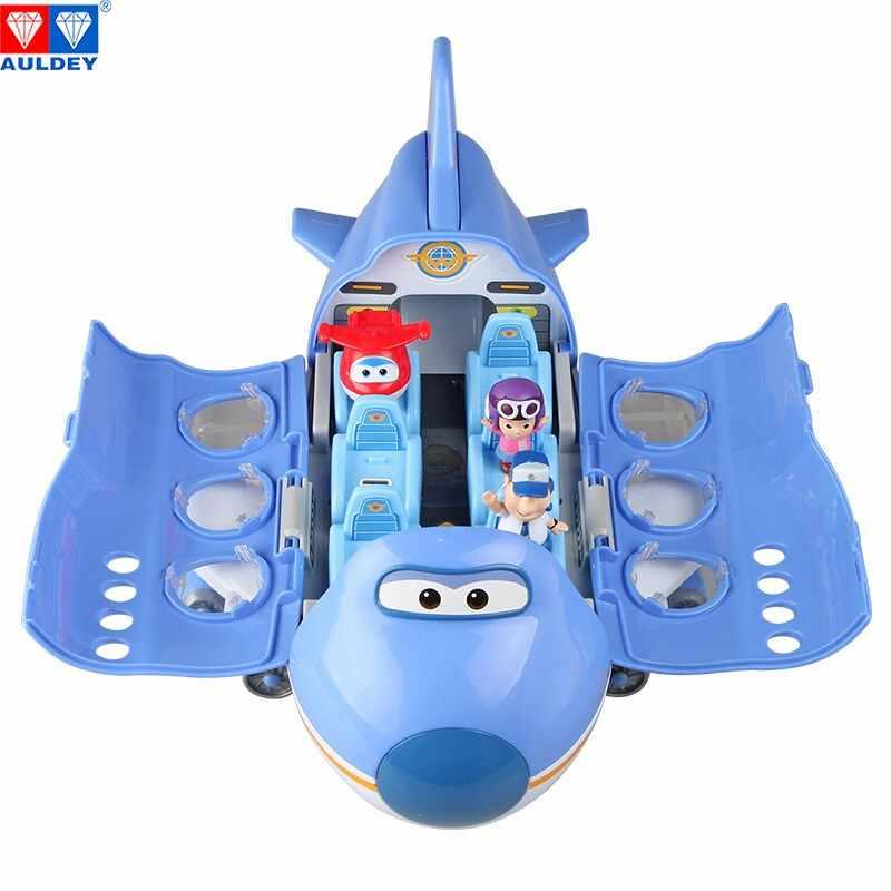 AULDEY série cena Super Asas Grandes Aeronaves de Asa Alta Qualidade Original Deformação Figura de Ação Brinquedo Modelo Crianças Aniversario