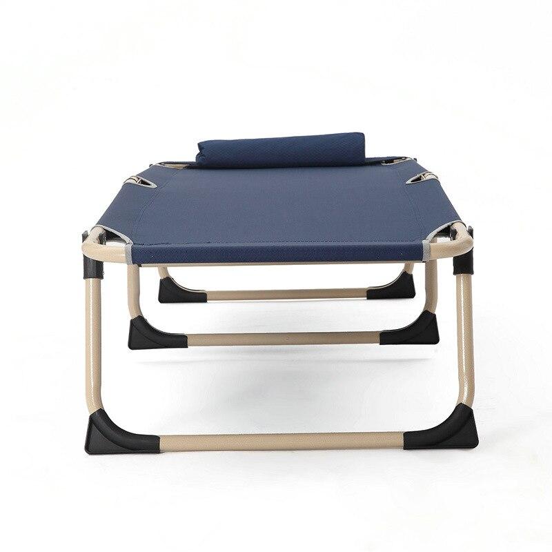 Multifunctional Sun Loungers Office Household Leisure Folding Chair Noon Break Single Bed Balcony Beach Chairs - 5