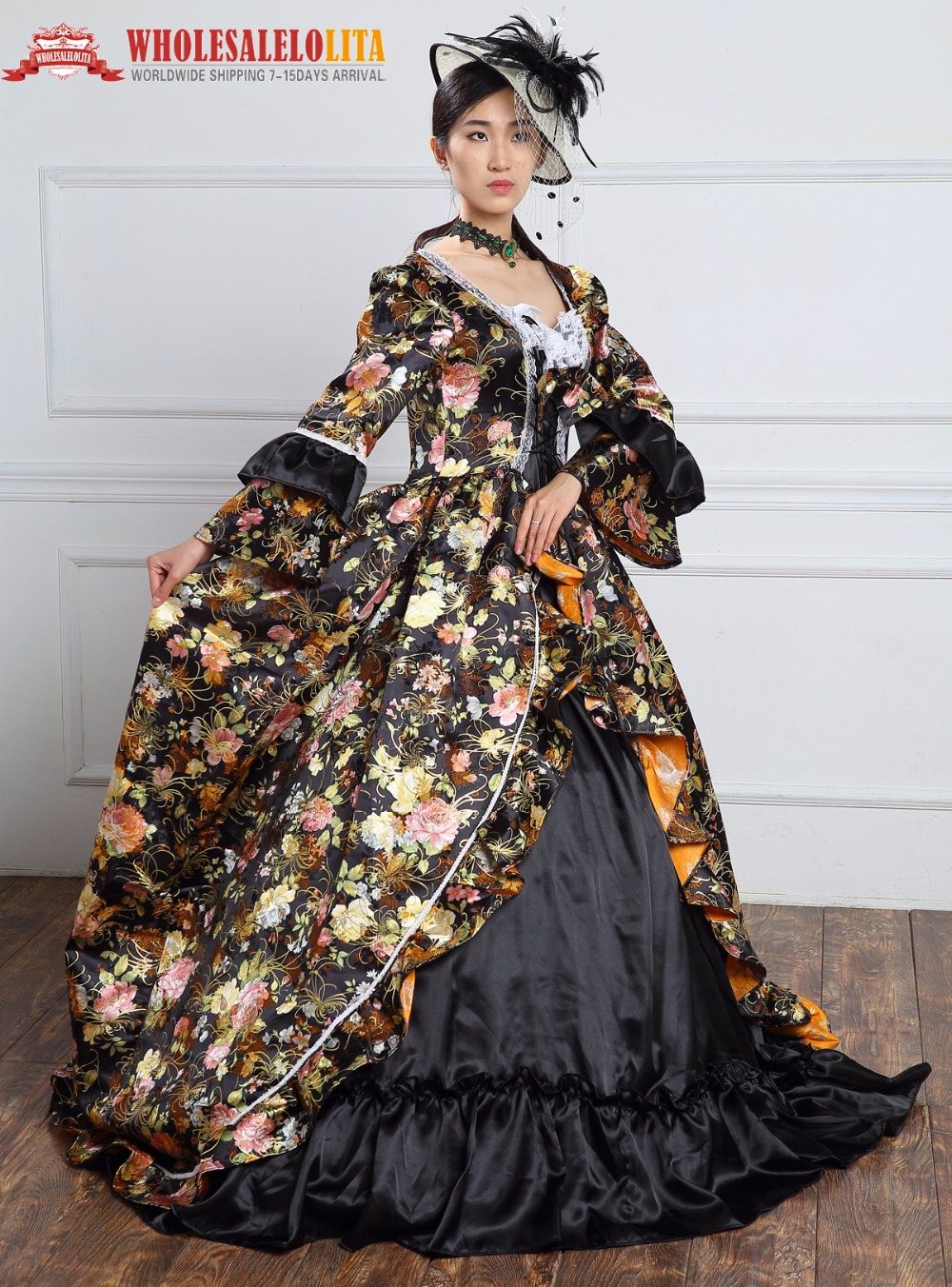 High Quality Holiday Marie Antoinette Dress Period Long