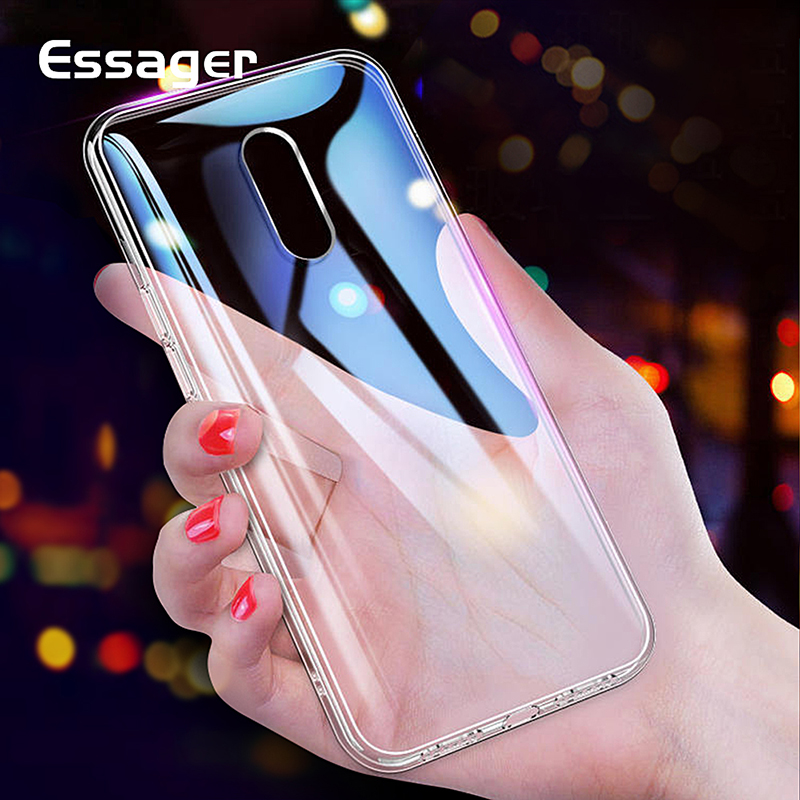 Essager Clear <font><b>Case</b></font> For <font><b>Oneplus</b></font> 3 5 6 t 7 3t 5t <font><b>6t</b></font> 7Pro Transparent Silicone Ultra Thin Cover For One Plus 3t 5t <font><b>6t</b></font> 7 Pro <font><b>Bumper</b></font> image
