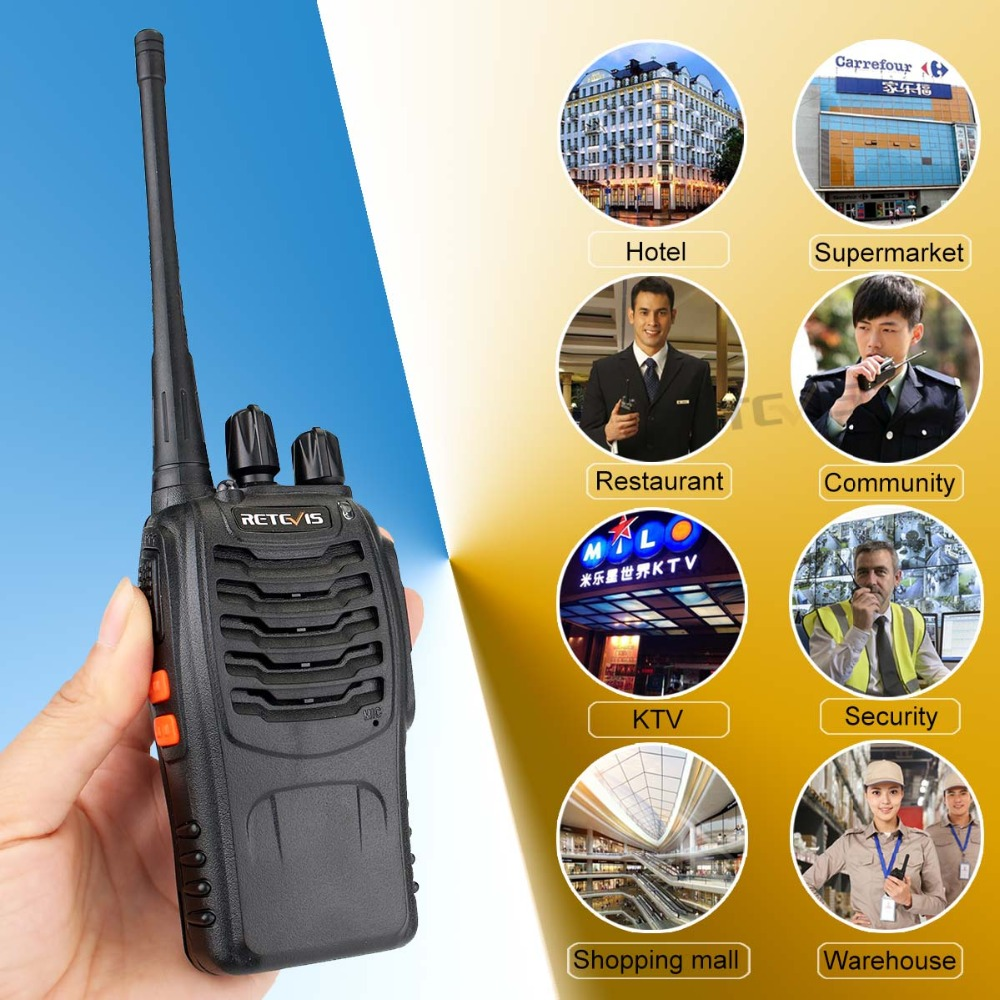 2 st Retevis H777 Portabel Walkie Talkie 16CH UHF 400-470MHz - Walkie talkie - Foto 5