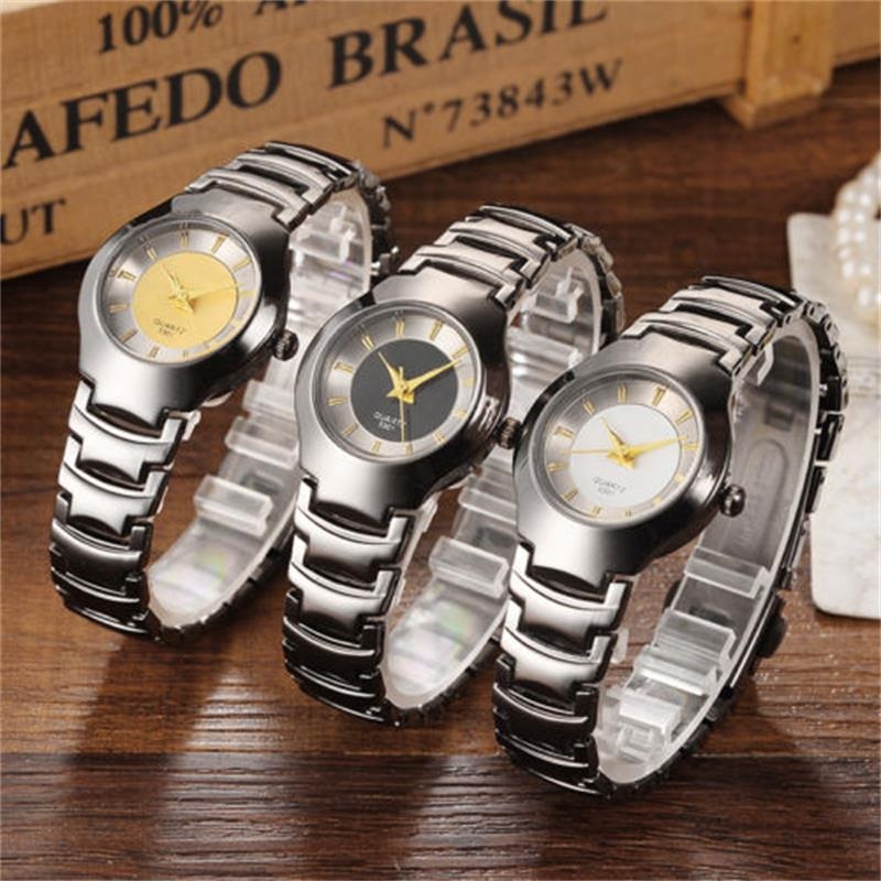 51c4a3a0a1230 Luxus Frauen Uhren Mode Quarzuhr Frauen Wolfram Stahl Damen Armbanduhr