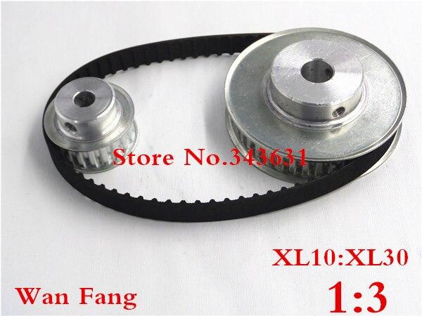 timing belt pulley xl reduction 3 1 30teeth 10teeth shaft center