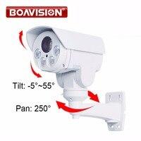 Поворотный 1080 P Наружная цилиндрическая PTZ IP камера, 2.0MP 10X зум 80 м ИК CCTV IP камера слот SD карты для камеры с POE сигнализации аудио в дополнительн