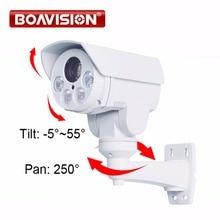 Поворотный 1080 P Наружная цилиндрическая PTZ IP Камера, 2.0MP 10X зум 80 м видеонаблюдения IP Камера слот для карты SD с POE аудио сигнала тревоги в дополнительный