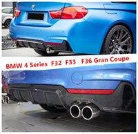 Carbon Fiber Rear Lip Spoiler For BMW 4 Series F32 F33 F36 Gran Coupe 2013.2014.2015.2016.2017 Car Bumper Diffuser Modification