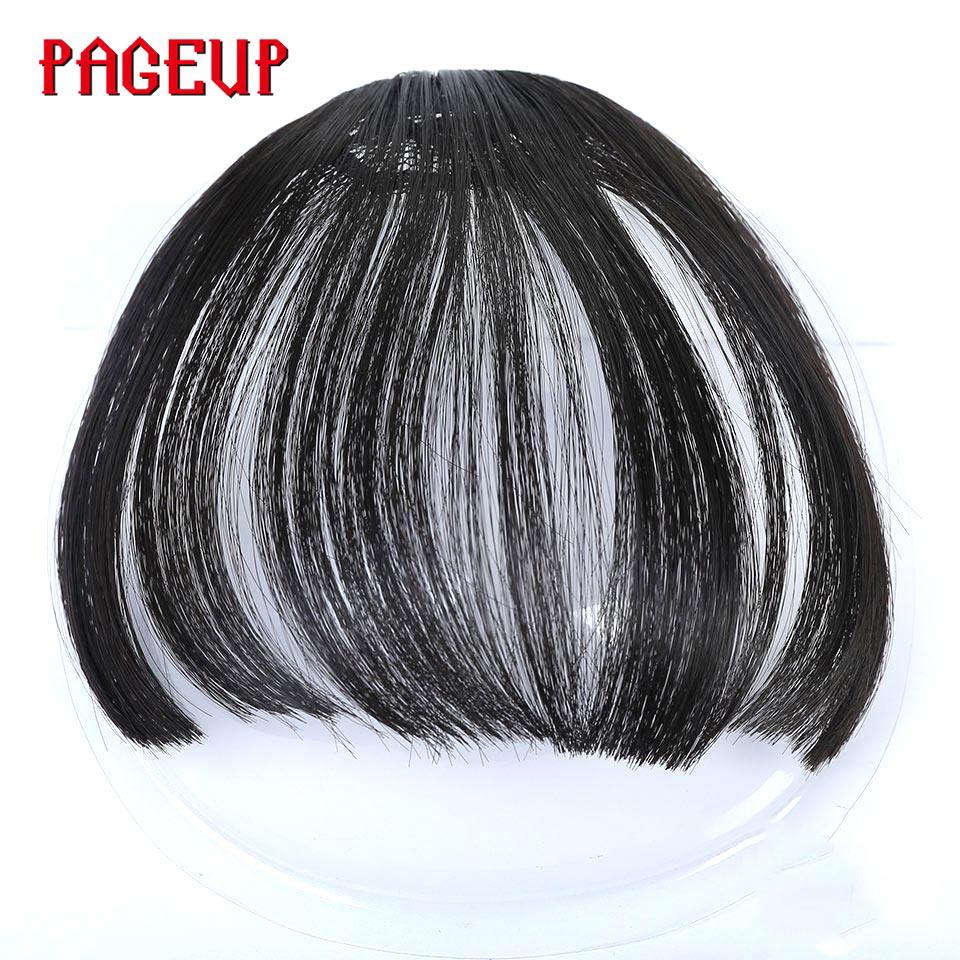 Pageup Synthetic Natural Front Bangs For Women Clip In Hair Extensions Short Front Bangs Black Brown Blonde Clip In Fake Bangs