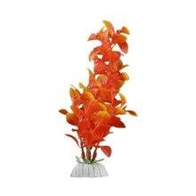 Практические Orange Искусственные Растения Пластиковые Аквариум Украшения