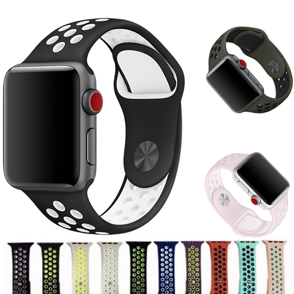 Watch Band Strap for Apple Watch 42mm 38mm iwatch series 3/2/1 Band Sport Silicone Rubber bracelet wrist watchband Accessories joyozy sport silicone band strap for apple watch nike 42mm 38mm bracelet wrist band protector watch watchband for iwatch 3 2 1
