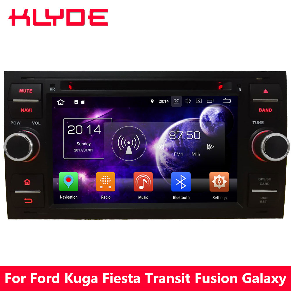 KLYDE Android 8.0 Octa Core 4G WIFI 4GB RAM 32GB ROM Car DVD Player Radio For Ford Focus Mondeo Kuga Transit Connect S-Max C-Max