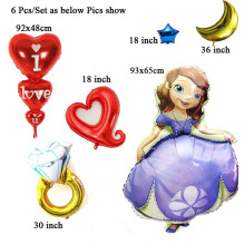 6Pcs/Lot wedding balloons wholesale helium foil baloon party decoration engagement anniversary valentine