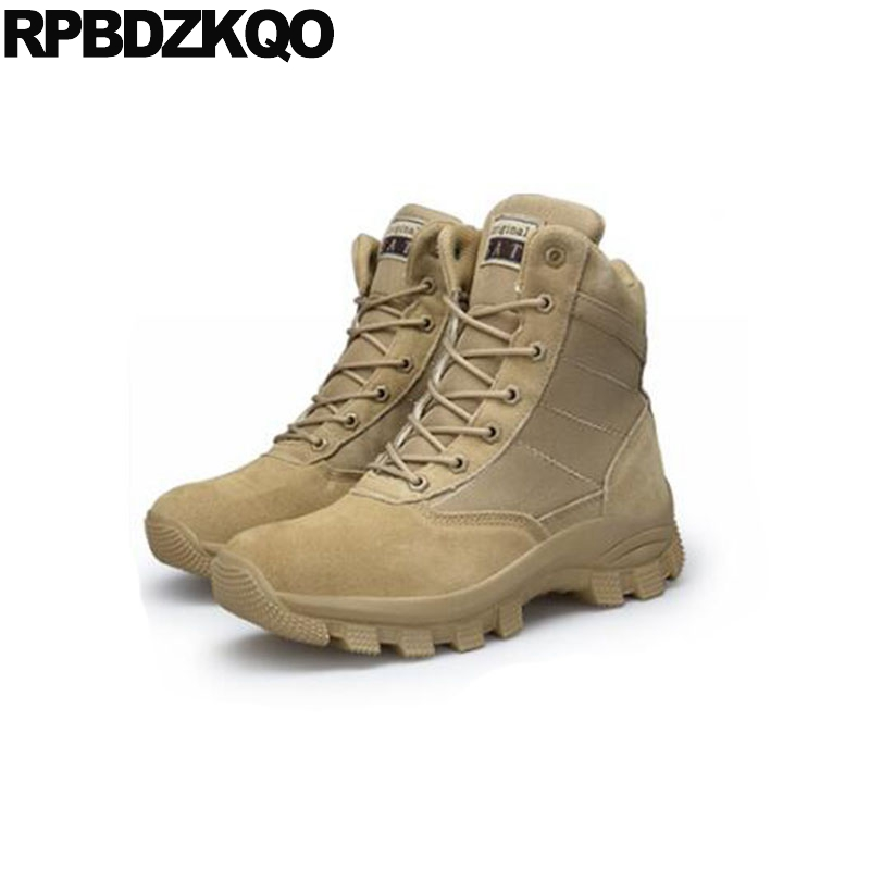 Tactical Combat Men Runway Military Canvas Shoes Army Desert Patchwork Italian Boots Platform Booties Ankle Plus Size High Sole combat boots desert tan lug sole military boots page 4